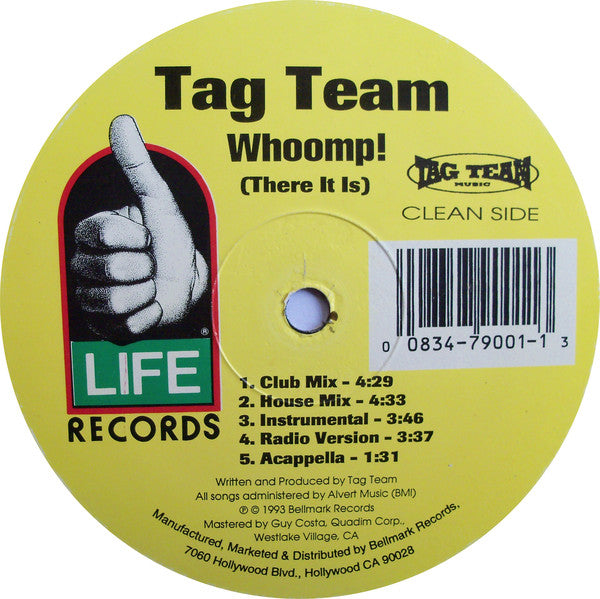 Tag Team - Whoomp! There It Is 12""