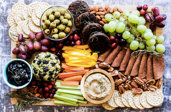 Vegan Cheeseboard with Charcuterie as well