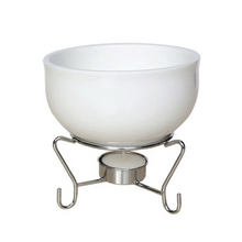 Load image into Gallery viewer, White Ceramic Cheese Fondue Pot Set - Lavish Cheese