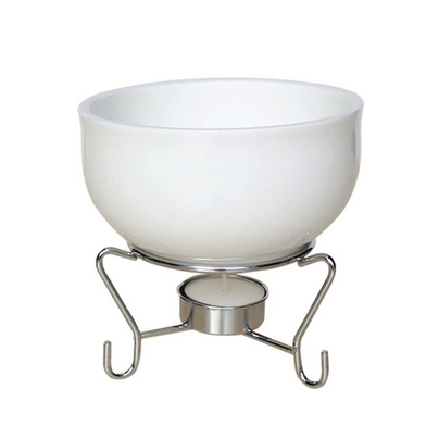 White Ceramic Cheese Fondue Pot Set - Lavish Cheese