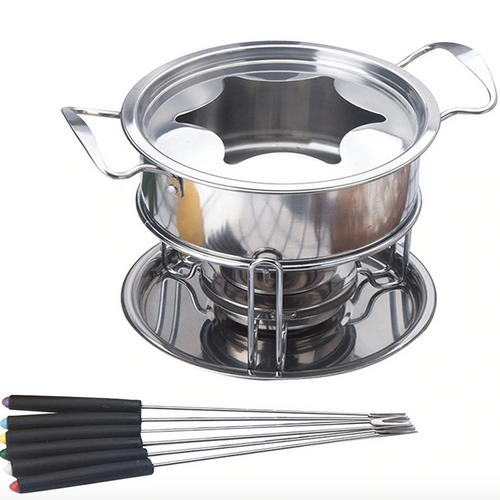 Cheese Fondue Pot Set 10 piece - Lavish Cheese