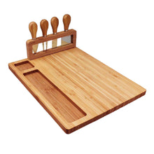 Load image into Gallery viewer, Bamboo Cheese and Charcuterie Serving Platter with matching serving tools - Lavish Cheese