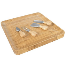 Load image into Gallery viewer, Cheese & Charcuterie Board with Matching Serving Tools in a Drawer - Lavish Cheese