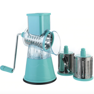 Counter Top Cheese Grater with three drums for vegetables or cheese - Lavish Cheese