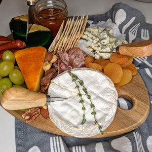 Oval Cheese Board in wood with hanging hole - Lavish Cheese