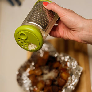 Parmesan Cheese Grater with Storage Container and Shaker Lid - Lavish Cheese