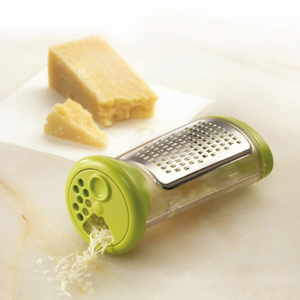 Parmesan Cheese Grater with Storage Jar Attached and Sprinkle Lid - Lavish Cheese