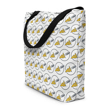 Load image into Gallery viewer, Cheese Market Shopping Tote Bag with cheese slicer logo - Lavish Cheese