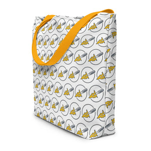 Cheese Market Shopping Tote Bag with cheese slicer logo - Lavish Cheese