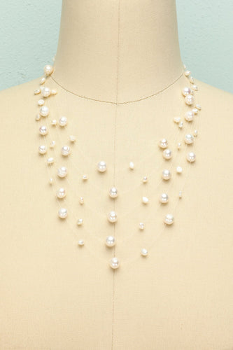Layered Pearl Necklace - ZAPAKA