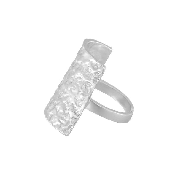 Ring Amber Square Silber - SHILA
