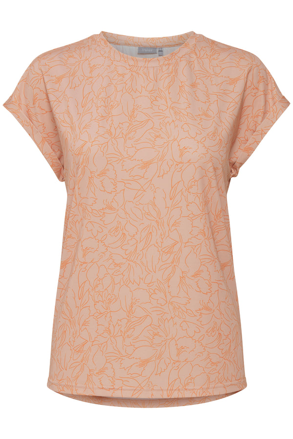 T-Shirt Amseen in Misty Rose Mix