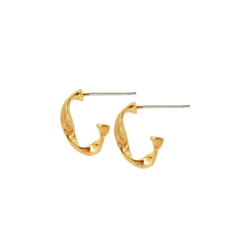 Creolen Fluid Branch Small Hoop Gold