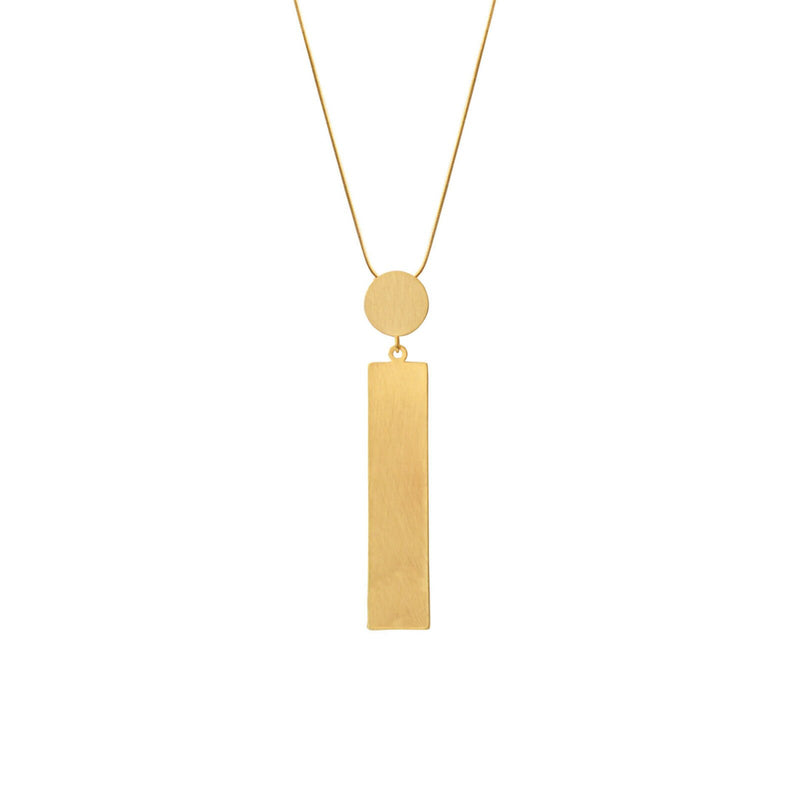 Theia Square Dot Kette Gold