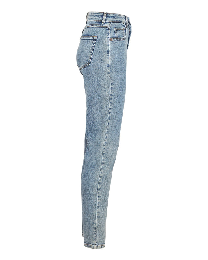 Momjeans Crystal in Light Denim Blue