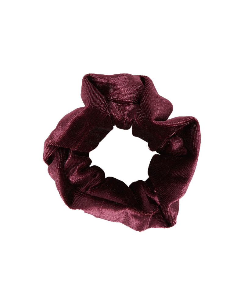 Mini Velour Scrunchy Bordeaux - SHILA