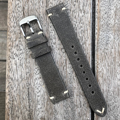 Dimgrey | Heritage Italian Calf Leather Watch Strap - Samurai Vintage Co.