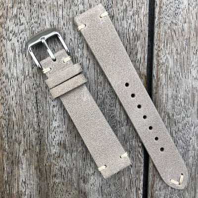 Gainsboro | Heritage Italian Calf Leather Watch Strap - Samurai Vintage Co.