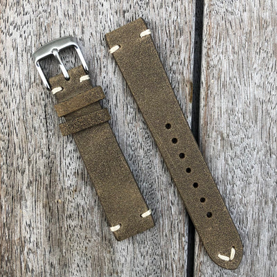 Olive Green | Heritage Italian Calf Leather Watch Strap - Samurai Vintage Co.