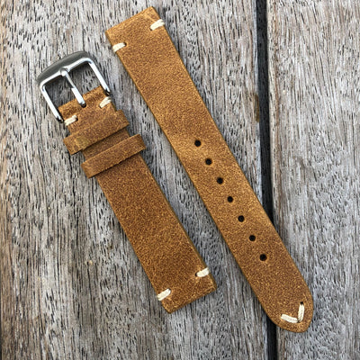 Imola Brown | Heritage Italian Calf Leather Watch Strap - Samurai Vintage Co.