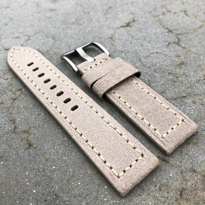 Gainsboro | Continental Italian Calf Leather Watch Strap - Samurai Vintage Co.