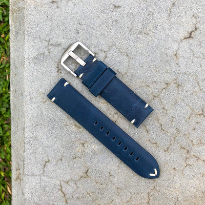 Vintage Blue | Stealth Calf Leather Watch Strap - Samurai Vintage Co.