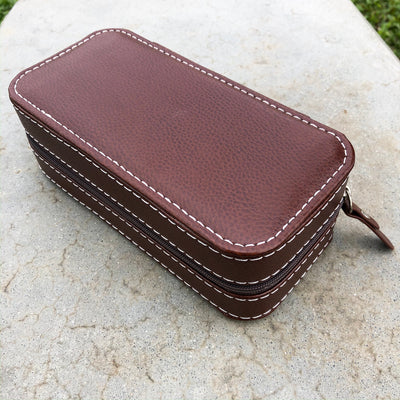 Dark Brown | Calf Leather Watch Case - Samurai Vintage Co.