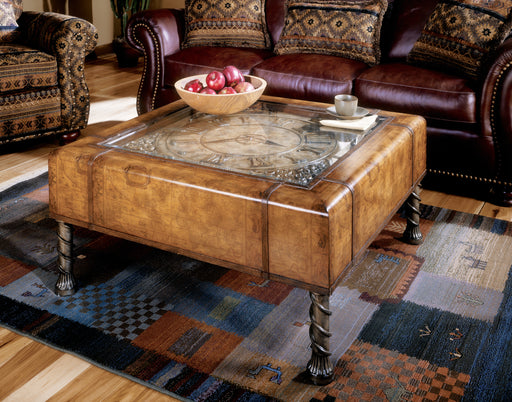 BUTLER 286070 CLOCK COFFEE TABLE - Heritage