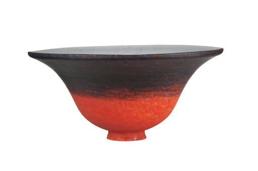 10 Inch W Orange/Blue Pate-de-verre Bell Shade