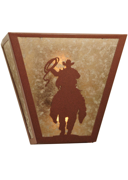 13 Inch W Range Riders Wall Sconce