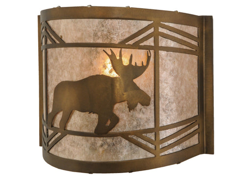 11 Inch W Lone Moose Wall Sconce