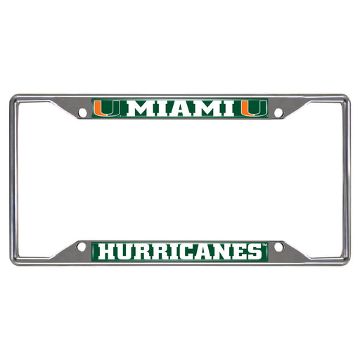 University of Miami License Plate Frame 6.25x12.25
