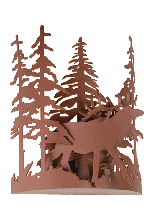 11 Inch W Elk Through The Trees Wall Sconce