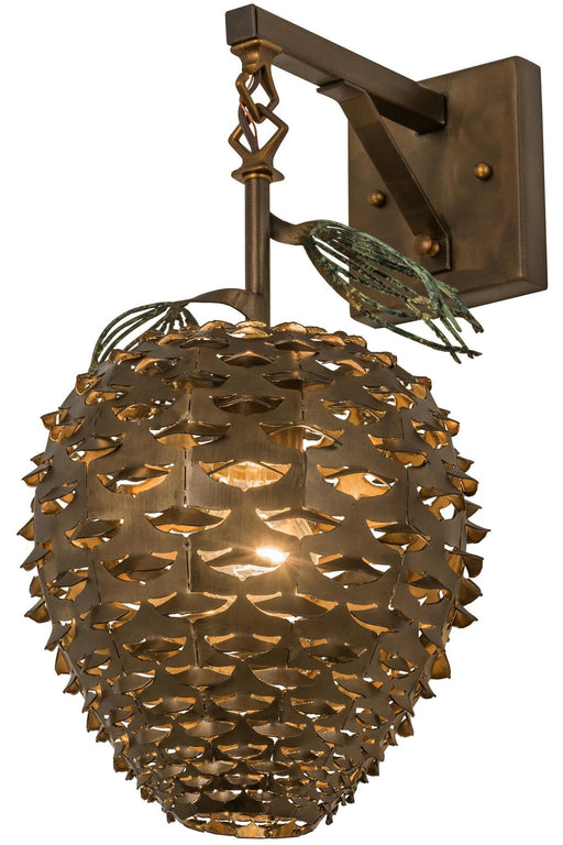 11 Inch W Stoneycreek Pinecone Hanging Wall Sconce