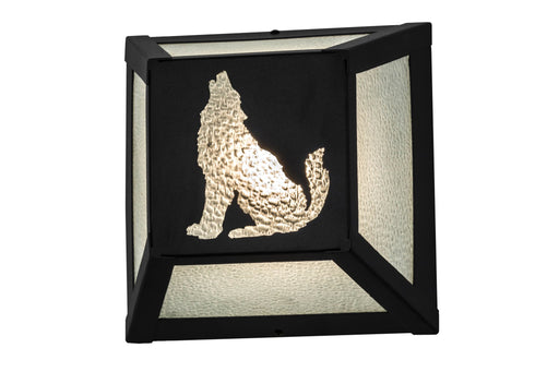 10 Inch W Lone Wolf Wall Sconce