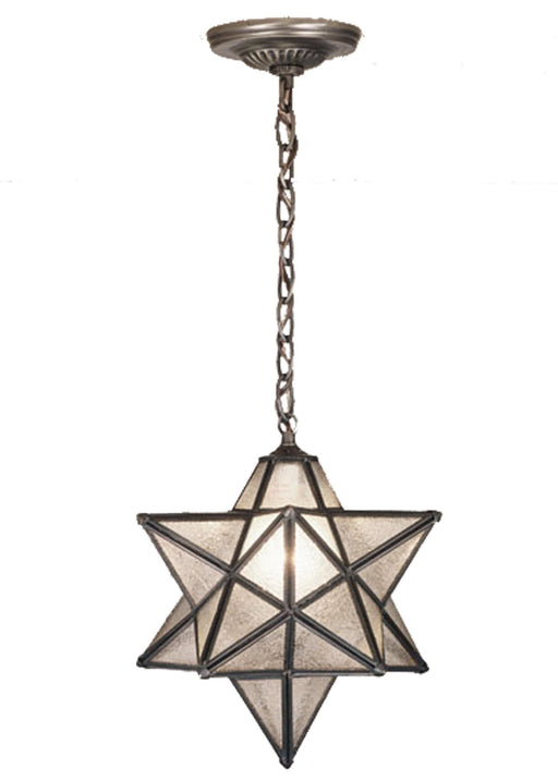 12 Inch W Moravian Star Clear Seeded Pendant