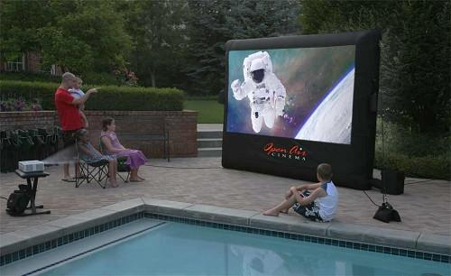 Open Air Outdoor Home Projector Screen 9x5