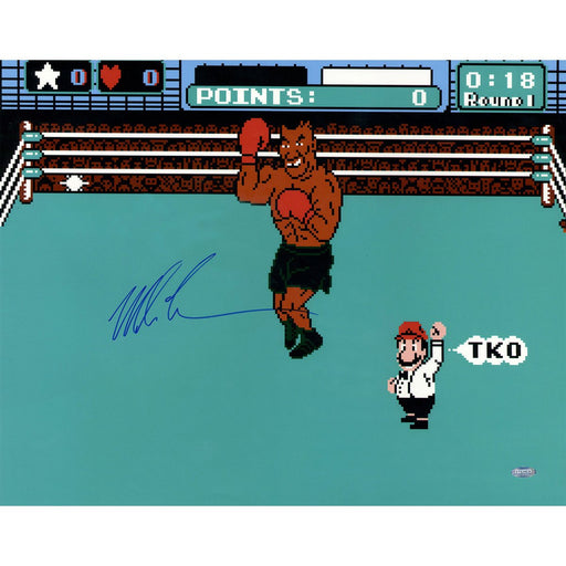 Mike Tyson Signed Punch Out Signed 16x20 Photo
