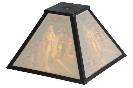 12 Inch Sq Maxfield Parrish Inch Cinderella Inch Porcelain Lithophane Shade