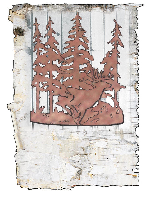 11 Inch W Deer Through The Trees Wall Sconce