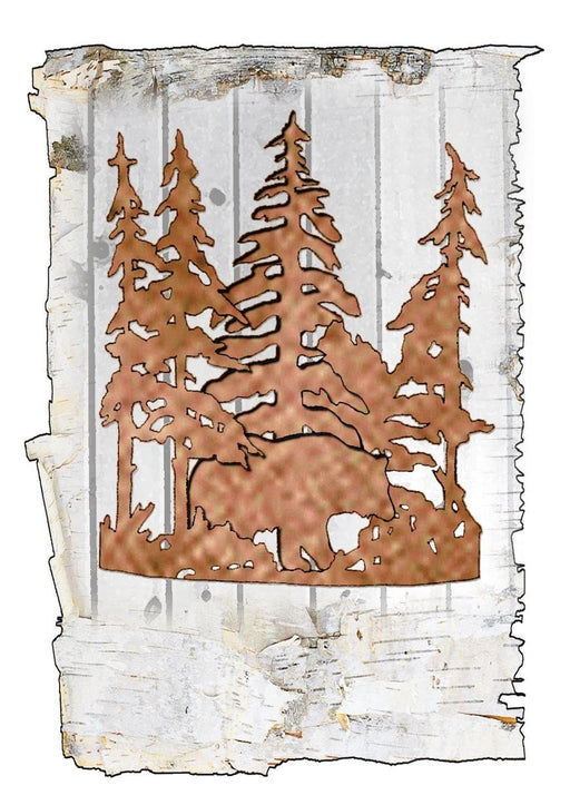11 Inch W Bear Through The Trees Wall Sconce