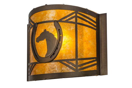 12 Inch W Horseshoe Wall Sconce