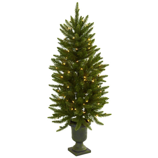4ft Christmas Tree w/Urn & Clear Lights
