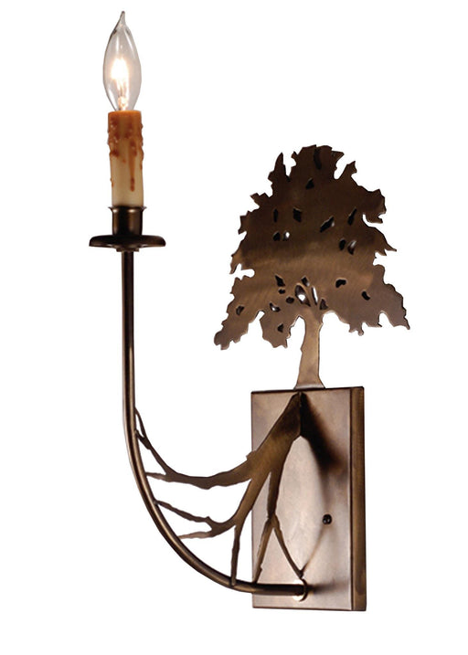 10 Inch W Oak Tree Wall Sconce