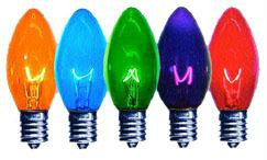 C9 Multi-Color Transparent Bulbs 7-Watt (25 Pack)