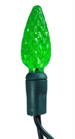100 LED Strawberry C6 Green Set w-4  Spacing