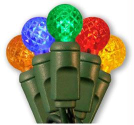 "50 LED Raspberry G12 Multi-Color Set w-4"" Spacing"