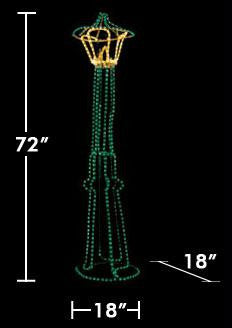 3D Standing Lamp Post (Green)