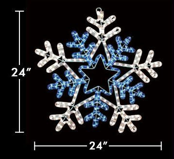 "24"" Snowflake with Blue Center"