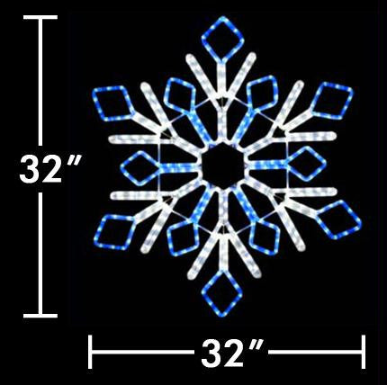 "32"" LED Two Color Snowflake"